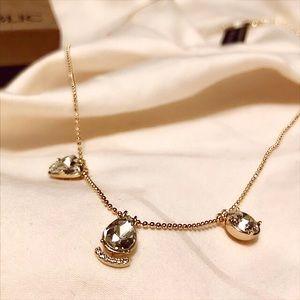 🎁 Banana Republic Gold Necklace Cubic Zirconia